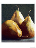 Three Big Pears Giclee Print by Helen J. Vaughn