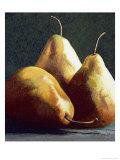 Three Big Pears Premium Giclee Print by Helen J. Vaughn