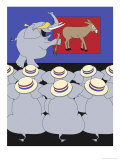 Republican Convention Giclee Print by Linda Braucht