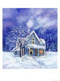Wintertime Storm Giclee Print by Linda Braucht