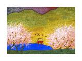 Japanese Lake Premium Giclee Print by John Newcomb