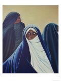 3 Bedouin Women Giclee Print by Erik Slutsky