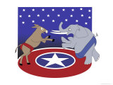Democrats vs. Republicans, no.3 Giclee Print by Linda Braucht