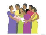 Black Family, no.1 Giclee Print by Linda Braucht
