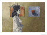 Woman with a Nest on Her Head, c.1999 Premium Giclee Print by Helen J. Vaughn