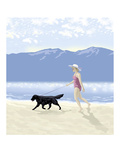 Lakeside Stroll Giclee Print by Linda Braucht