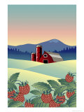 Country Farm Giclee Print by Linda Braucht