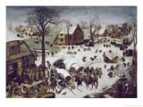 Census at Bethlehem Giclee Print by Pieter Bruegel the Elder