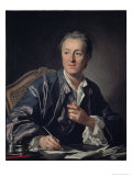 Portrait of Diderot, c.1767 Premium Giclee Print by Carle Vanloo