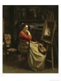 L'Atelier de Corot, Jeune Femme a La Mandoline Giclee Print by Jean-Baptiste-Camille Corot
