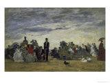 La Plage a Trouville Giclee Print by Eugène Boudin