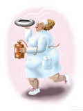 The Bedpan Nurse Giclee Print by Linda Braucht