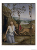St. Jerome in the Desert, c.1499 Giclee Print by Pietro Perugino