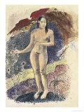 Femme Nue Tahitienne Premium Giclee Print by Paul Gauguin