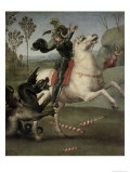 St. George Fighting the Dragon Impression giclée par  Raphael
