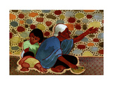 Mexican Beggar Family Giclee Print by John Newcomb