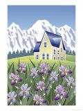 Iris Home, no.2 Giclee Print by Linda Braucht