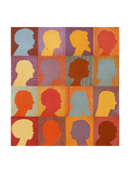 Checkerboard People Giclee Print by John Newcomb