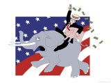 Republican Pork Giclee Print by Linda Braucht