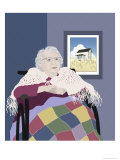 Grandma Giclee Print by Linda Braucht