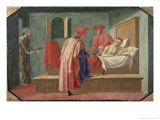 St. Cosmas and St. Damian Caring For a Patient, 15th century Giclee Print by Francesco Pesellino