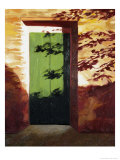 Green Door Giclee Print by Helen J. Vaughn