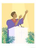 Black Lady Preacher, no.1 Giclee Print by Linda Braucht