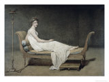 Portrait de Madame Recamier Giclee Print by Jacques-Louis David