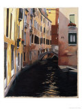 Narrow Canal in Venice Giclee Print by Helen J. Vaughn
