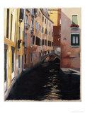 Narrow Canal in Venice Giclee Print by Helen J. Vaughn
