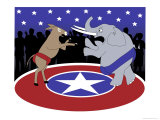 Democrats vs. Republicans, no.2 Giclee Print by Linda Braucht