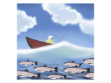 Fishing Giclee Print by Linda Braucht