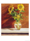 Sunflowers in a Glass Bowl Giclée-Druck von Helen J. Vaughn