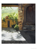 Tuscan Courtyard, Early Evening Giclee Print by Helen J. Vaughn