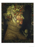 Summer, c.1573 Lmina gicle por Giuseppe Arcimboldo