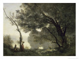 Souvenir of Morte Fontaine Giclee Print by Jean-Baptiste-Camille Corot