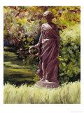 Statue in a Southern Garden Giclée-Druck von Helen J. Vaughn