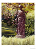 Statue in a Southern Garden Giclee Print by Helen J. Vaughn
