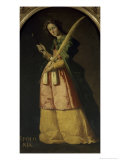 Saint Apollonia, 17th century Giclee Print by Francisco de Zurbarán
