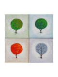 Seasons: Four Square Giclee Print by John Newcomb