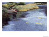 Rowboats in Scotland Giclee Print by Helen J. Vaughn