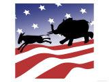 Patriotic Silhouette Giclee Print by Linda Braucht