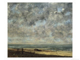 La Mer Reproduction giclée Premium par Gustave Courbet
