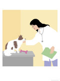 Vet in Action, no.2 Giclee Print by Linda Braucht