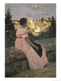 The Pink Dress, c.1864 Giclee Print by Frederic Bazille