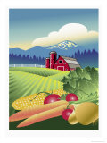 Country Vegetable Farm Giclee Print by Linda Braucht
