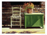 Chair on Sally's Patio Giclee Print by Helen J. Vaughn