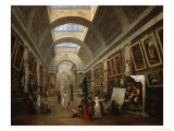 Project For the Disposition of the Grand Gallery, c.1796 Impression giclée par Hubert Robert