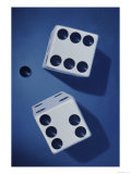Close-up of a Pair of Dice Giclee Print