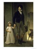 Portrait de J.B. Isabey et Sa Fille Giclee Print by Francois Gerard